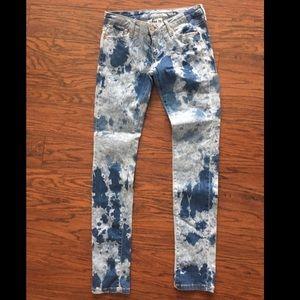 New MNG Ella tie dye skinny jeans. Sz 6